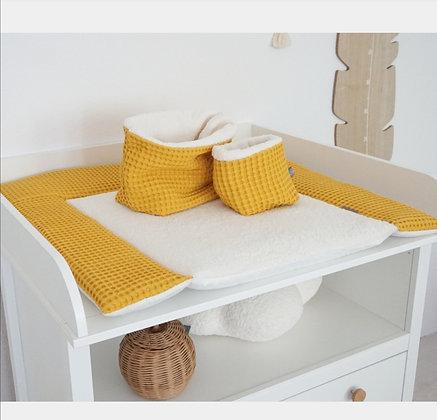 *Wickelauflage Waffel grob gelb