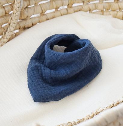 Halstuch Musselin blau