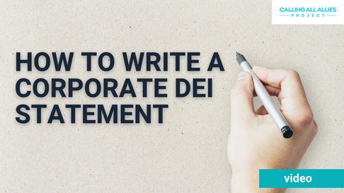 CAAP - How To Write A Corporate DEI Stat