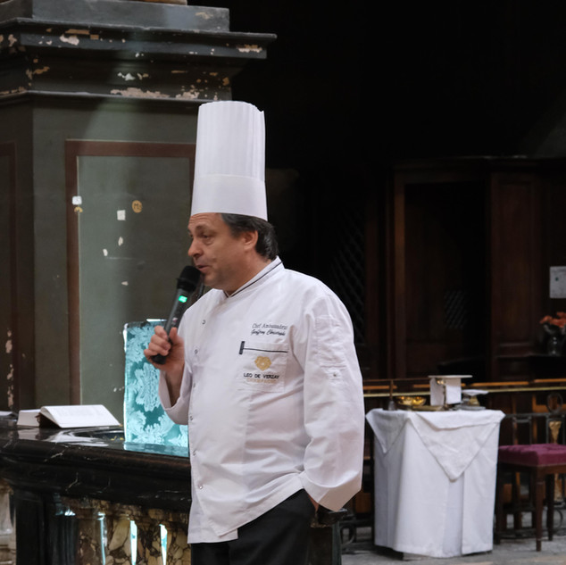 Le chef Christophe Geoffroy