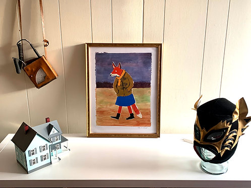 Rosa the Fox: Medium (14 x 18) Framed Print