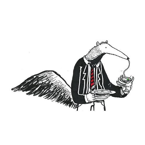 Anteater Martini Print