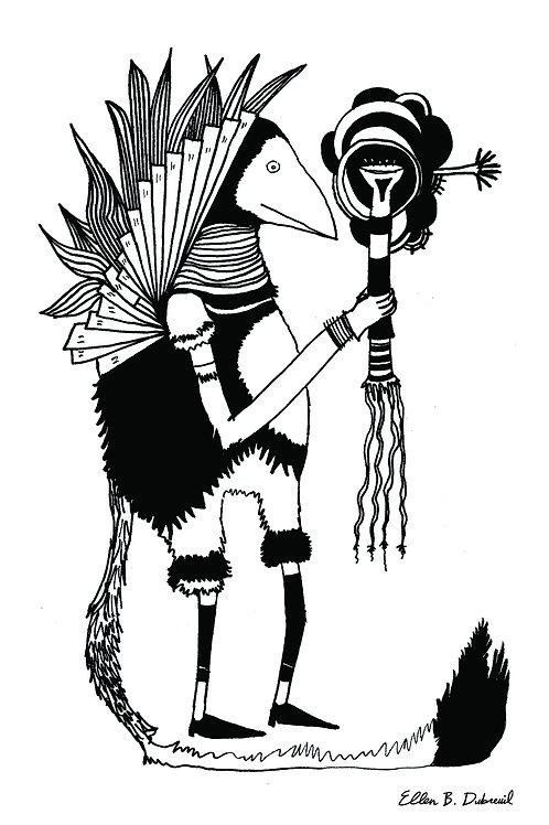 Warrior (Right) Postcard
