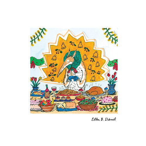 Holiday Host Anteater Print