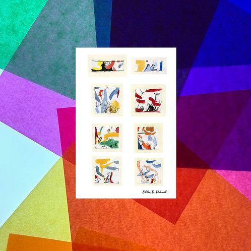 Scraps (Music) Postcard