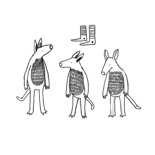 Three Creatures Print