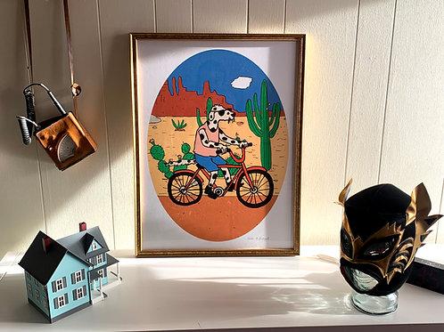 See Spot Bike: Large (18 x 24) Framed Print