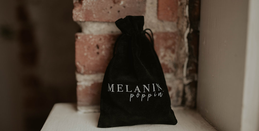 Melanin Poppin' Velvet Swag Bag