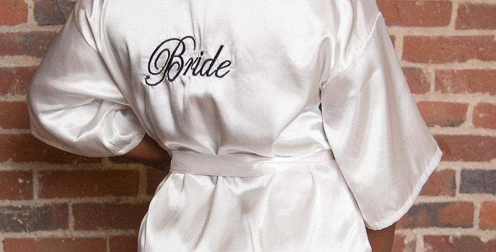 Kimono Bride Robe (black text)