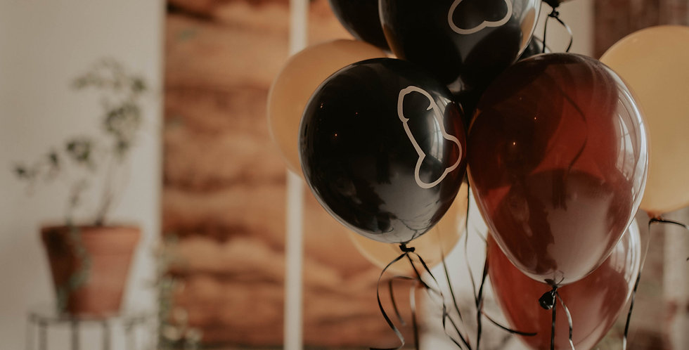Dipped in Gold Balloons