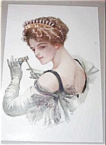Original Harrison Fisher Prints Cheif Interest Victorian Opera Lady