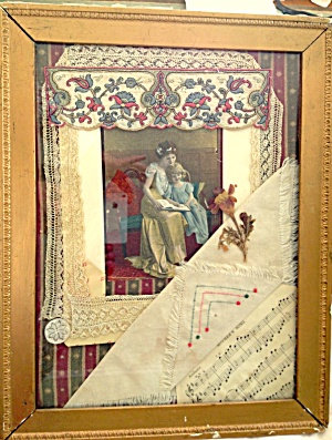Antique Mother's Day Song Victorian Collage Print Edwardian Girl