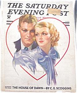 Bradshaw Crandell Cover Vintage Saturday Evening Post Magazine