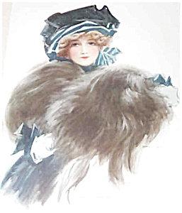 Antique Print: Victorian Ladies Fashion Fur Hats Henry Hutt
