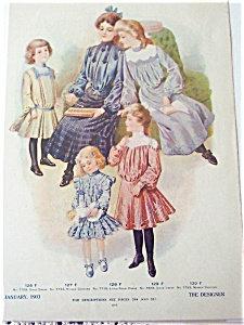 Antique & Vintage Prints Fashion Ads Girl & Doll