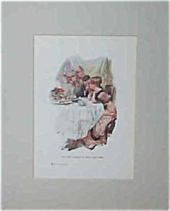Vintage Harrison Fisher Prints: First Evening New Home Newlyweds