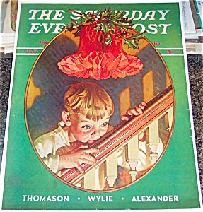 Christmas Print Jc Leyendecker Saturday Evening Post Cover Art