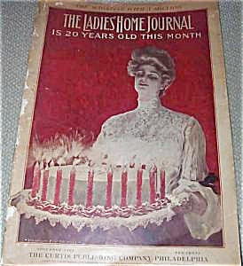 Vinatge Ladies Home Journal Harrison Fisher Birthday Cake Cover