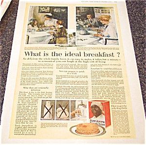 Vintage Ads & Illustrations: Aunt Jemima Pancake Print