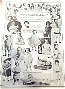 Antique & Vintage Prints: Babies Children Ad Illustraion