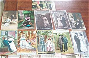 Antique Postcard Lot Of 25 Romance Real Photo
