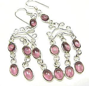Amethyst Long Dangle Sterling Silver Earrings