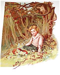 Antique Victorian Lithograpgh: Children Prints