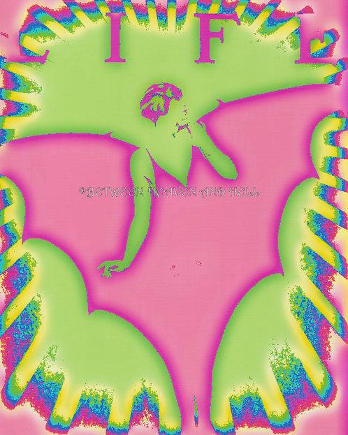 8x10 Boho Chic Altered Art Print LIFE Pinks Art Deco Style Woman Metaphysical