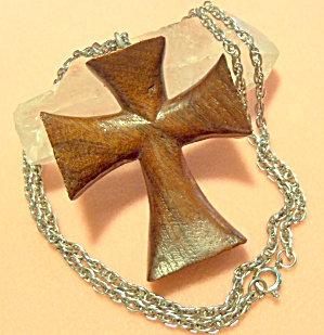 Huge Vintage Wood Cross Necklace