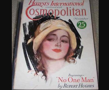 1930 vintage Cosmopolitan Magazine Harrison Fisher Cover Art Illustrations, Ads