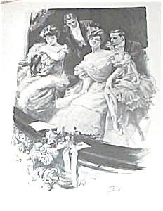 Original Harrison Fisher Print Rivals Opera Romance, Victorian