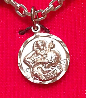 Vintage Unused St. Christopher Medal Pendant