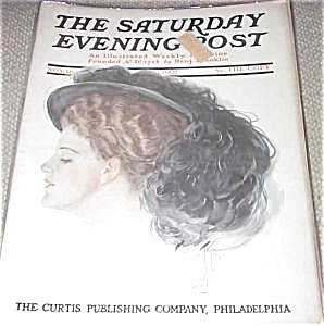 Harrison Fisher Cover Saturday Evening Post Magazine 1907