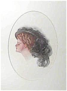 Art Harrison Fisher- Blonde In Black Hat