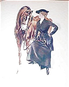 Victorian Equestrian Prints: Henry Hutt Lady In Riding Attire