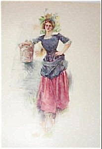 Howard Chandler Christy Print : Country ; Colonial Girl