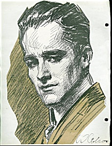 Victorian Scrapbook Page Man Illustration