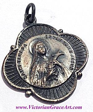 Vintage St. Teresa Of The Child Jesus Holy Medal