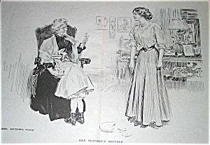 James Montgomery Flagg Illustration Great Grandmother