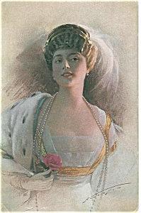 Artsist Signed Postcard Knoefel Art Deco Flapper Glamour Lady