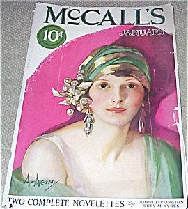 Neysa Mcmein Vintage Mccalls Magazine Art Deco Lady With Turban