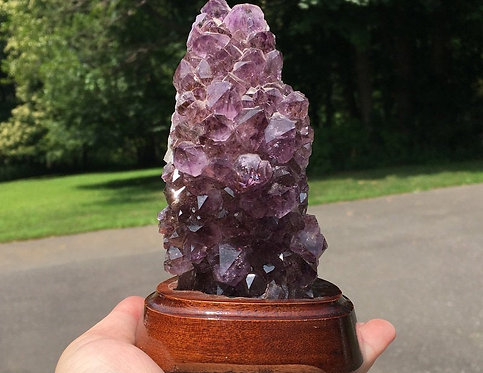 """5.25"""" Cacoxenite Amethyst Geode cluster - Angelic & Spiritual Realm Contact"""