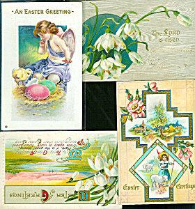 Antique Postcards Lot Victorian Angel Chicks Religious