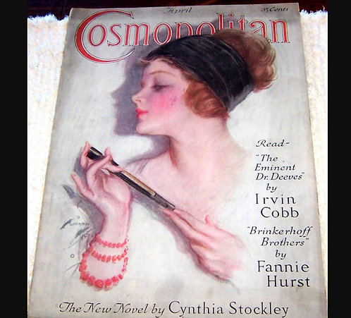 Vintage 1923 Cosmopolitan Magazine Harrison Fisher Cover Art Coles Phillips Ads