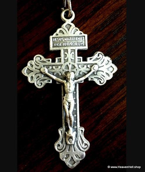 large Forgiveness Crucifix Jesus Cross Pendant Christian Religious Jewelry