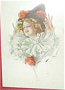Harrison Fisher Antique Art Print: Lady Clown