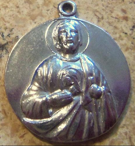 """1"""" Vintage Saint Jude Medal Holy Pendant Catholic Religious Jewelry"""