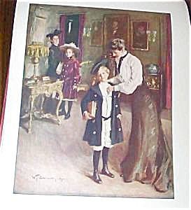 """W.t.smedley Victorian Print """"off To School"""""""