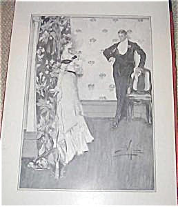 A.b. Wenzell Print Victorian Couple The Quarrel