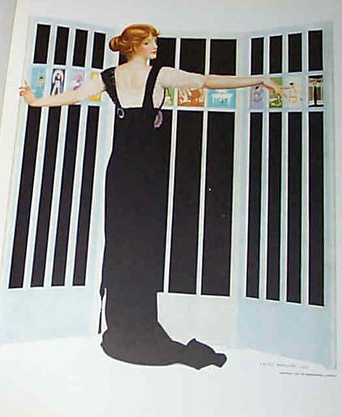 Antique Elegant Black Dress Fade Away Girl Coles Phillips Art Print 1912